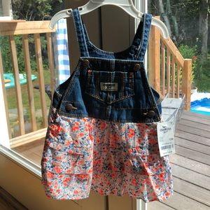 Little denim skirt overall